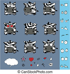 zebra ball cartoon set1