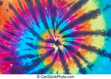 Bright Tie Dye Pattern - Bright colored tie dye pattern on...