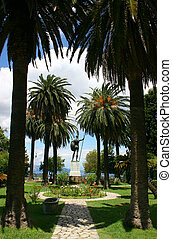 Achillion park - Higly decorated park of Achillion palace...
