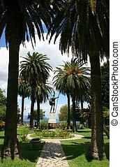 Achillion park - Higly decorated park of Achillion palace...