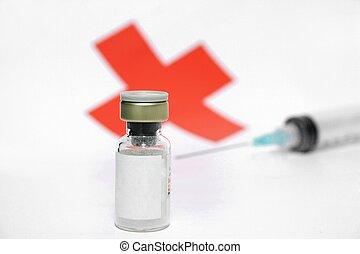 Syringe and medicine vial