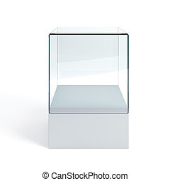 empty display case, isolated 3d render
