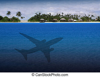 Exotic Holiday Destination - Airplane Trip to an Exotic...