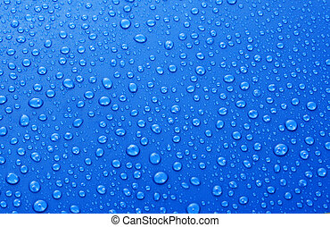 Beautiful blue water drops background
