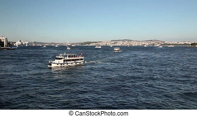 Bosphorus 8 HD 1080p - Sea traffic at the Bosphorus, shoot...