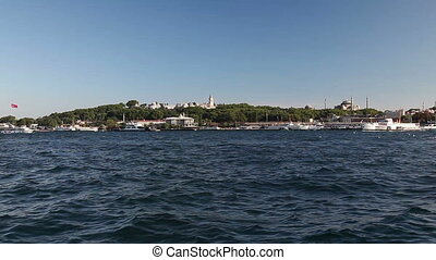 Bosphorus 6 HD 1080p - Sea traffic at the Bosphorus, shoot...