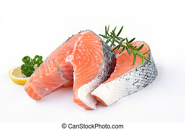 Salmon steaks