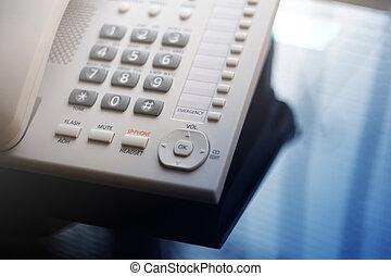 ejecutivo, Voip, escritorio, teléfono