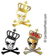Crown skull - Illustration vector