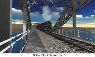 steam locomotive  - image of steam locomotive