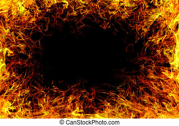 Fire flame with smoke. - image of a Fire flame with smoke.