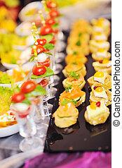 Buffet, alimento, Primer plano