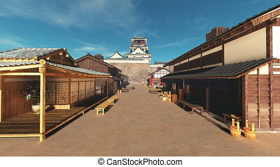 Japanese castle  - image of Japanese castle