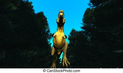 dinosaur - The image of living dinosaur