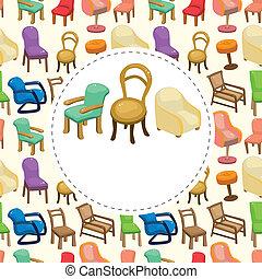 cartoon chair furniture card