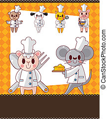 animal chef card