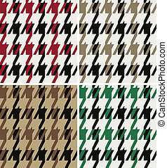 houndstooth fabric design