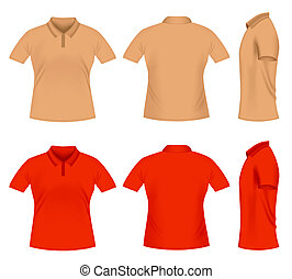Polo t-shirts - Realistic men\'s polo t-shirts