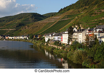 Town Zell at Mosel river in Germany