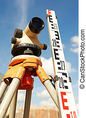 surveyor equipment outdoors - Surveyor equipment kit - level...