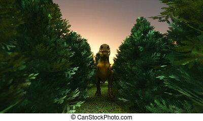 dinosaur - running T-rex