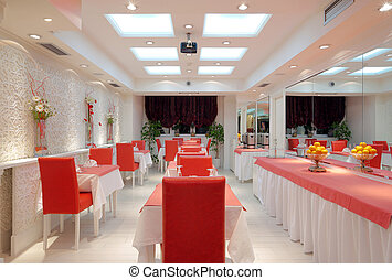 Restaurant interior - Interior of a restaurant, modern...