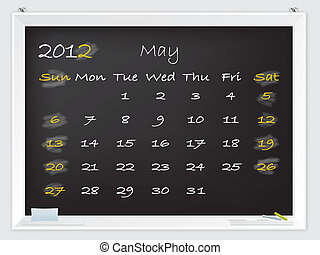 2012 May calendar