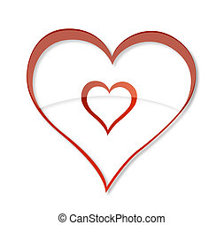 valentines symbol heart red color isolated