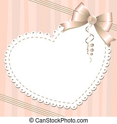 background with bow - gentle background with glossy bow and...