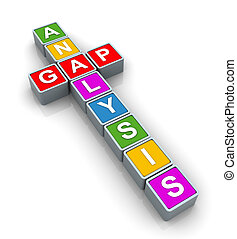 3d Buzzword gap analysis - 3d text cubes of buzzword \'gap...