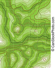 abstract topographical green map - vector abstract...