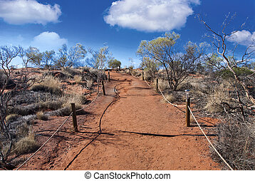 Australian Outback with Clouds during Winter