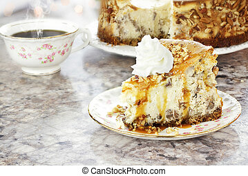 Southern Pecan Cheesecake - Slice of Southern Pecan...
