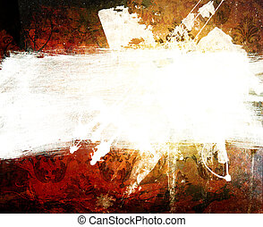 art Abstraction ornament - Abstraction. A stain of a paint....