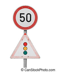 traffic Signs - Isolated traffic Signs on natural white...