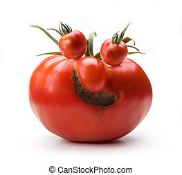 Art cheerful Mr Tomato - abstract Art cheerful MrTomato...