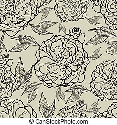 "Vector seamless floral pattern (from my big ""Floral..."