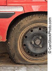 Flat tire.