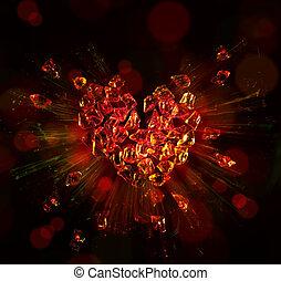 art heart broken into pieces - heart broken into pieces