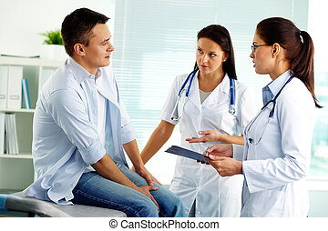 Medical consultation - Portrait of confident female doctors...
