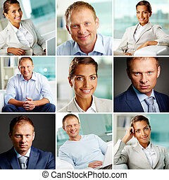 White collar workers - Collage of successful white collar...