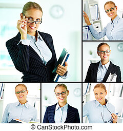Elegant businesswoman - Collage of confident businesswoman...