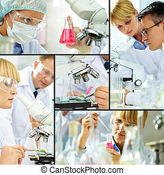 Laboratory study - Collage of clinicians studying new...