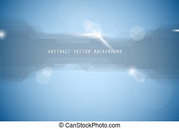 Abstract vector blue background