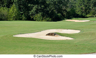 golf course sand traps - sand trap at golf course near...
