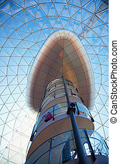 Cupola of shopping center - Belfast Mall Center Stairs...