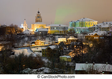 Winter view of old district of Vladimir Russia