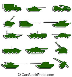 Vector Tanks, artillery and vehicles from second world war  stickers