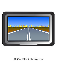 GPS navigation - vector illustration