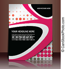 flyer cover design - vector flyer or cover design